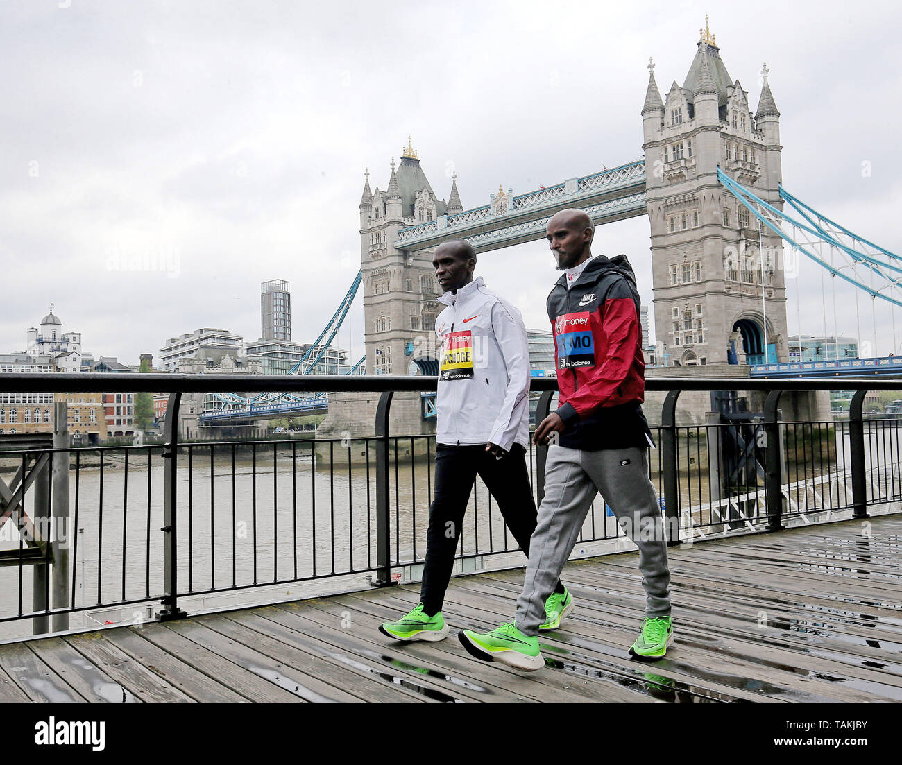 Photocall For The 2019 London Marathon At The Tower Hotel In