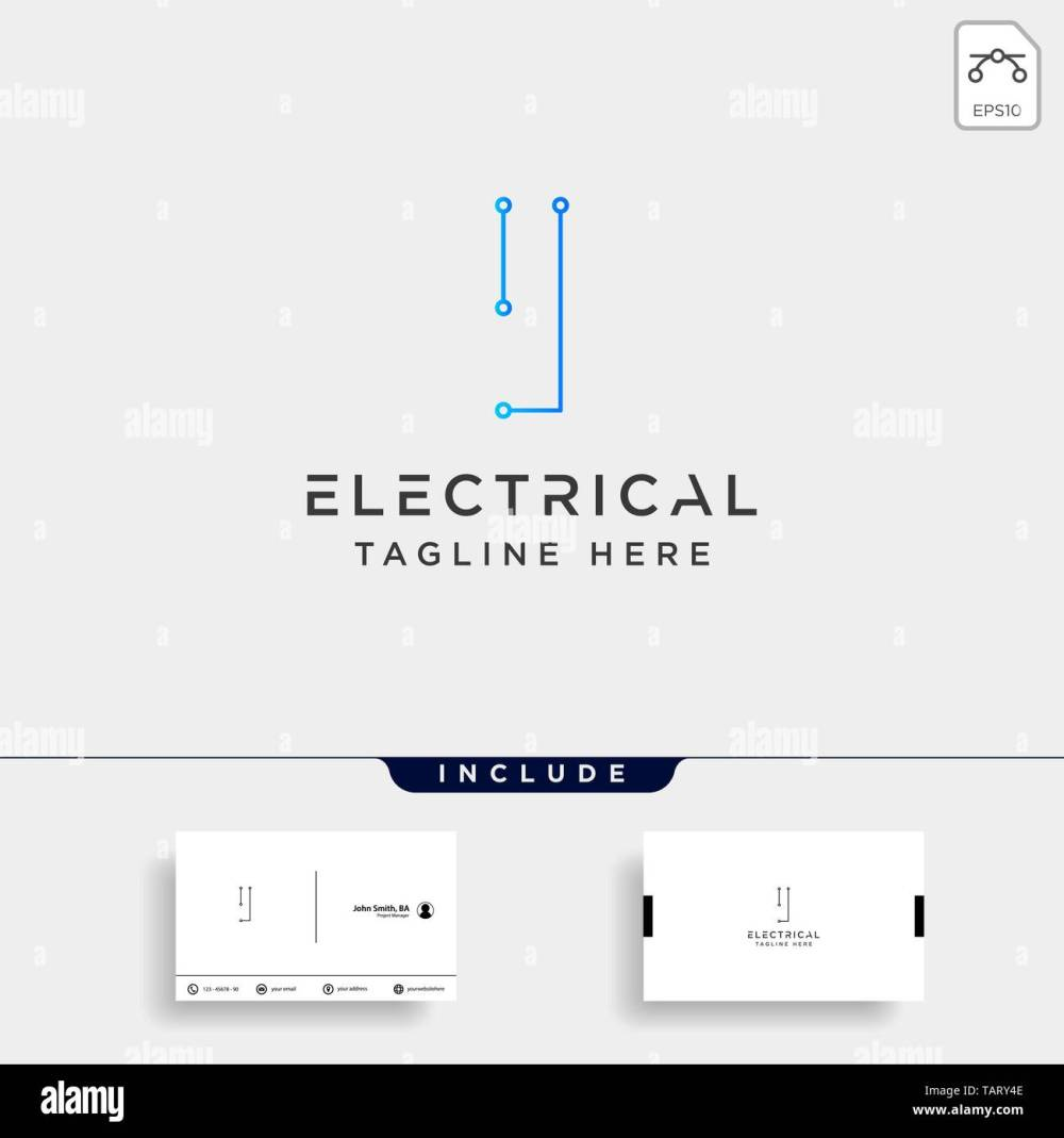 medium resolution of connect or electrical i logo design vector icon element isolated with business card include stock