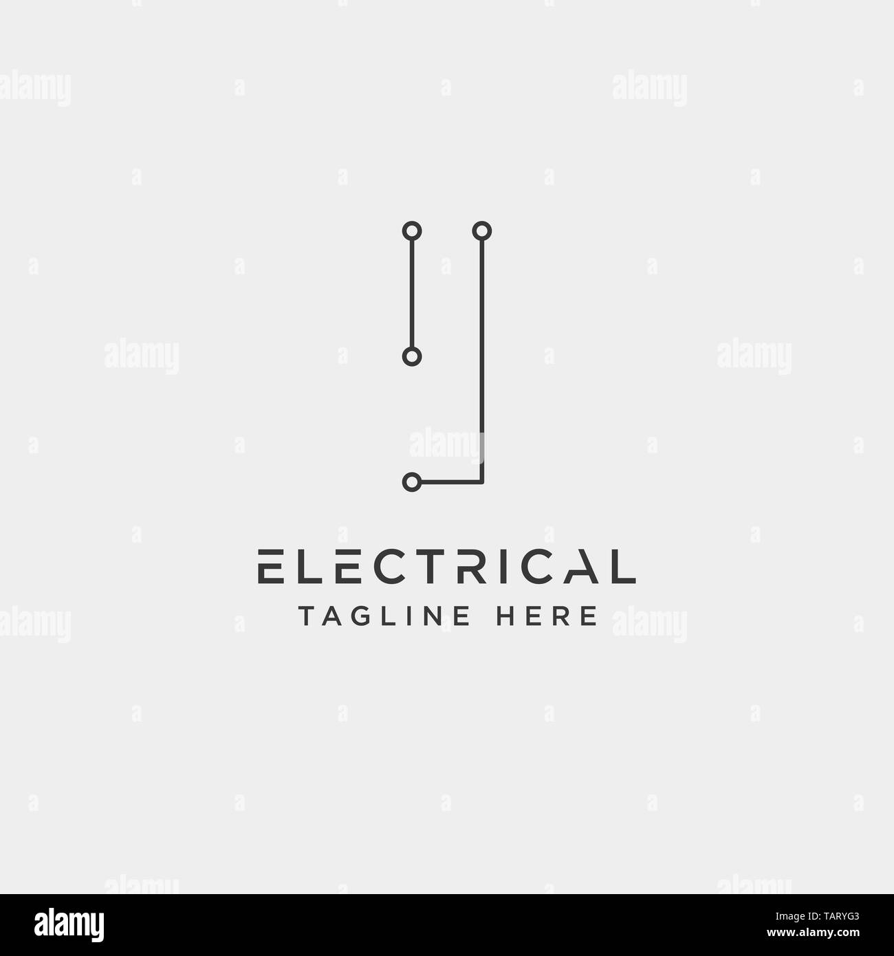 hight resolution of connect or electrical i logo design vector icon element isolated vector stock image