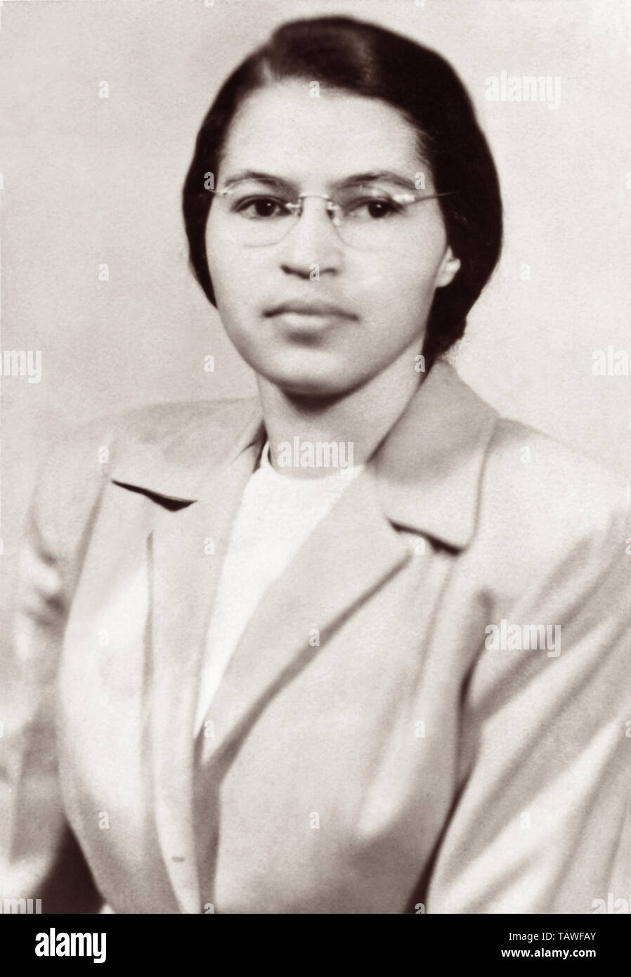 hight resolution of rosa parks c1950 stock image