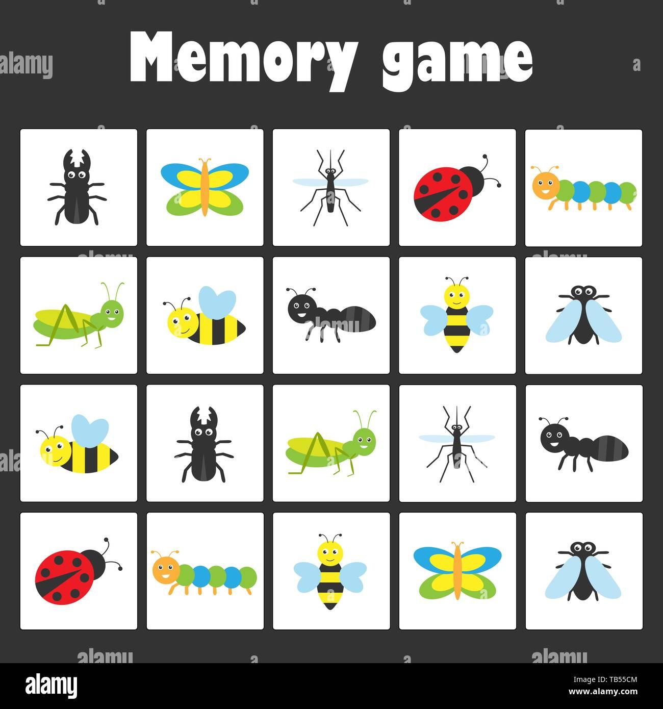 Memory Game Children Stock Photos Amp Memory Game Children