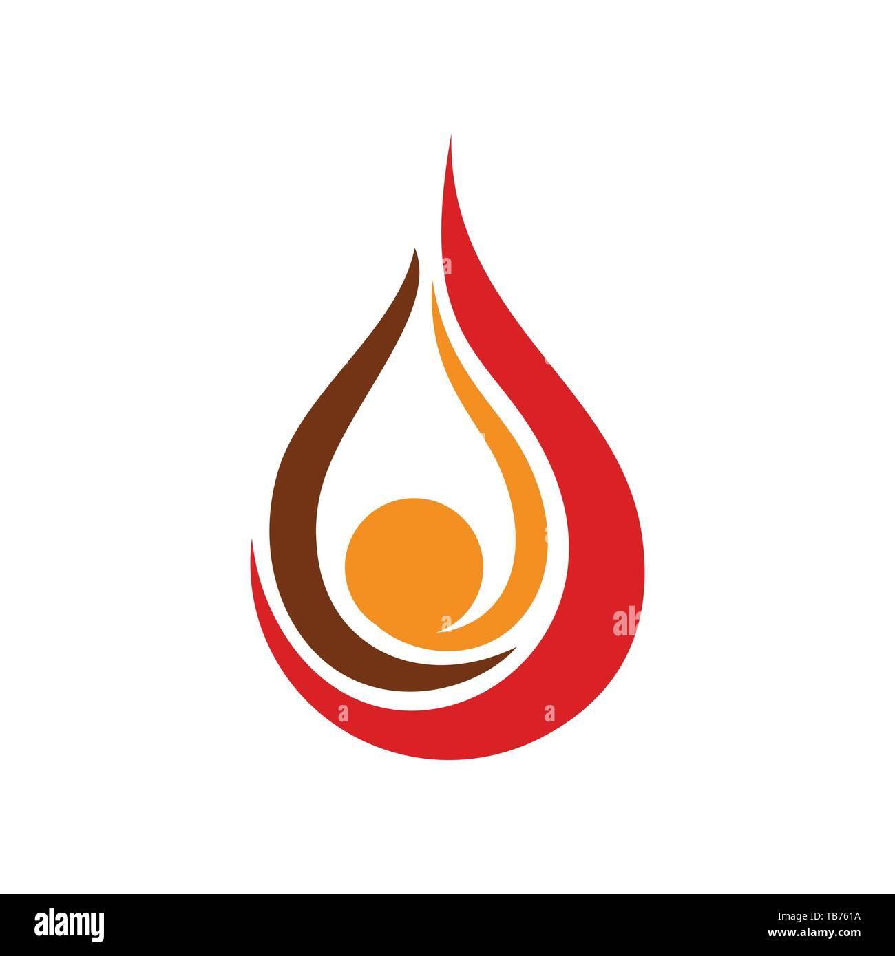 oil drop flames vector