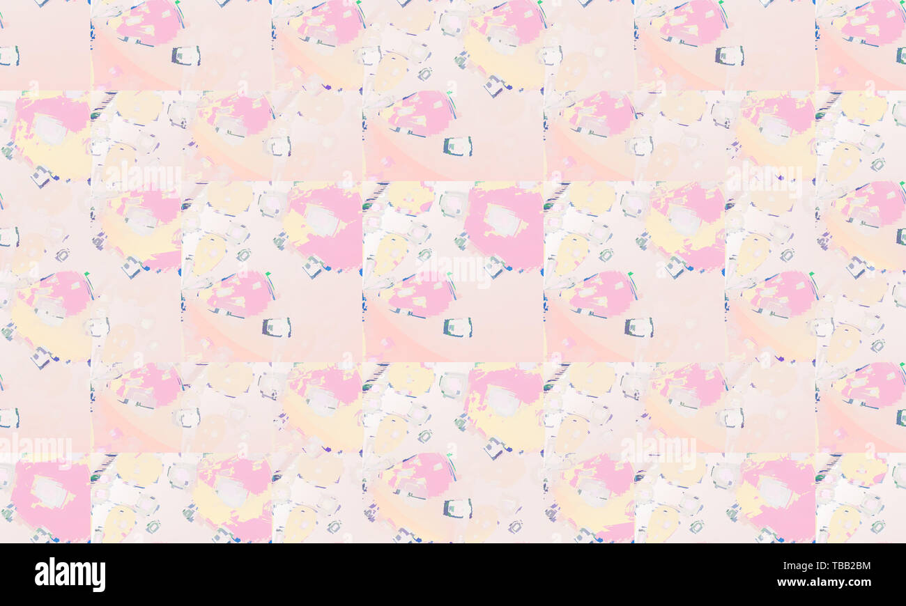 Beautiful Kids Wallpaper For Interior Design And Girls In Pastel Pale Pink Color Tiles Design In Pastel Orange And Pink Color With Different Shapes Stock Photo Alamy