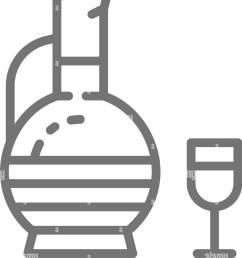 georgian wine chacha line icon stock image [ 1135 x 1390 Pixel ]