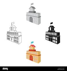 The building of the town hall City Hall Building single icon in cartoon black style vector symbol stock illustration Stock Vector Image & Art Alamy