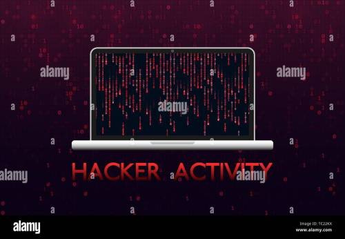small resolution of hacker activity concept hacked laptop on red binary background malware design with matrix backdrop