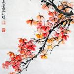 Chinese Painting Of Flowers And Birds Stock Photo Alamy
