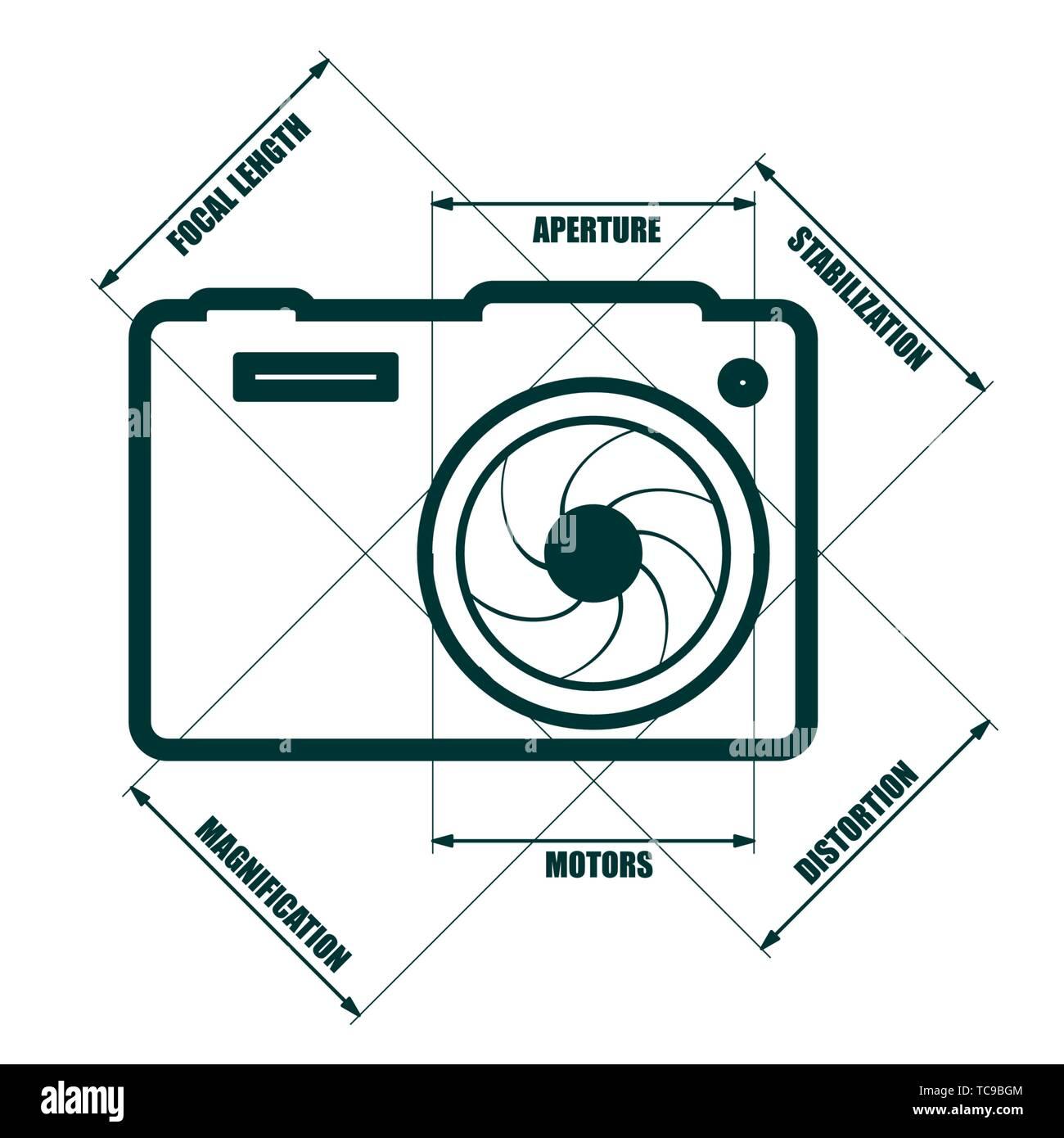 hight resolution of photo camera icon stock image