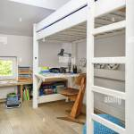 Desk Under Bunk Bed In Teen Bedroom Uk Irish Use Only Stock Photo Alamy