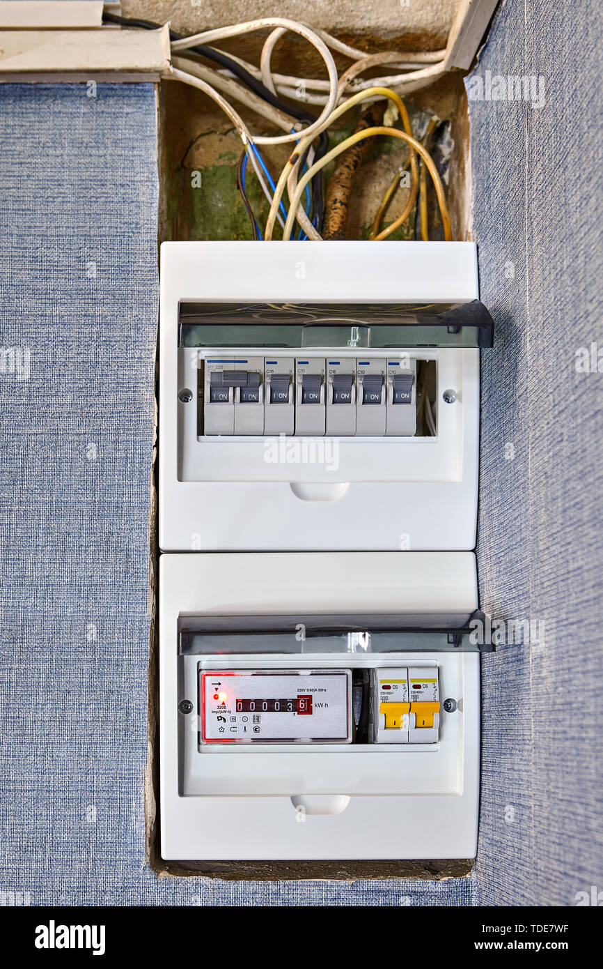 hight resolution of electrical safety in houses modern electrical switchboard fusebox new electronic electricity meter and