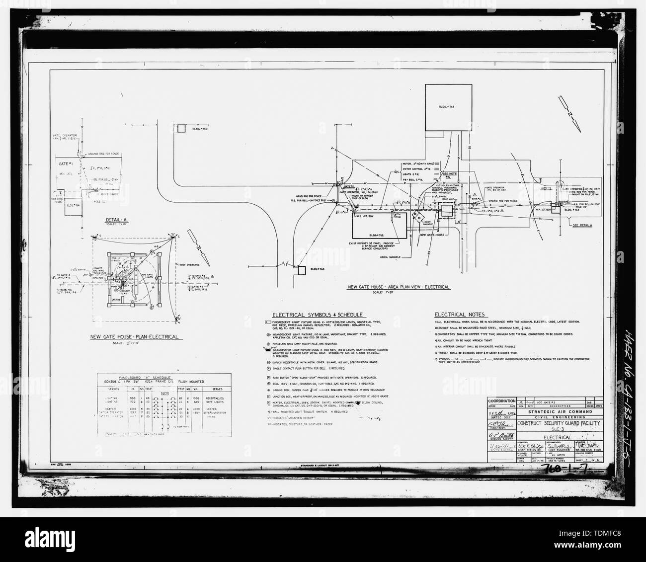 hight resolution of photocopy of drawing 1975 electrical drawing by the strategic air command usaf electrical