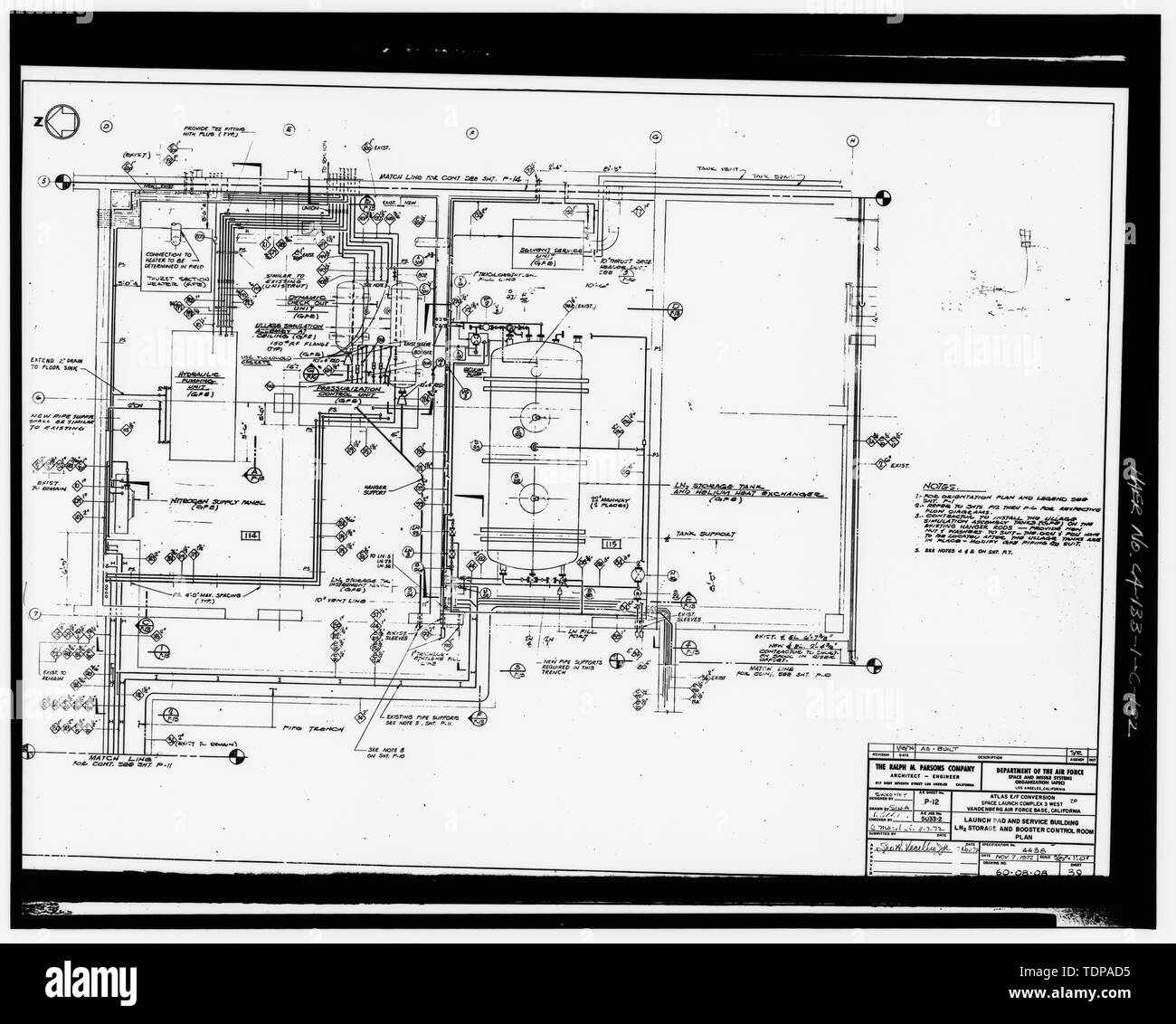 hight resolution of photocopy of drawing 1972 piping drawing by the ralph m parsons company plan