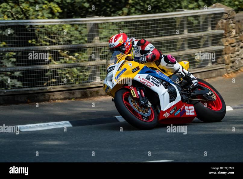 Man Tt Road Race 2019 Stock Photo
