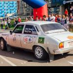 Novokuznetsk Russia June 14 2019 The 7th Peking To Paris Motor Challenge 2019 Peugeot 504 1974 Leaving The City And Going To Another Stage Of Stock Photo Alamy