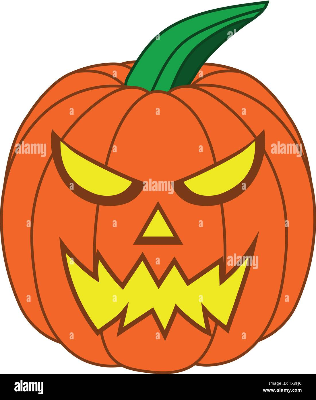 Cute Cartoon Halloween Pictures : cartoon, halloween, pictures, Cartoon, Halloween, Pumpkin, Funny, Face,, Isolated, White, Background, Design,, Game,, Card., Jack-O-Lantern., Vector, Illustration, Stock, Image, Alamy
