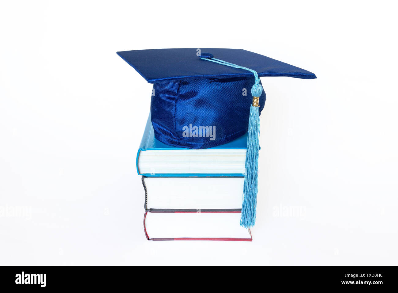 blue graduation cap stock