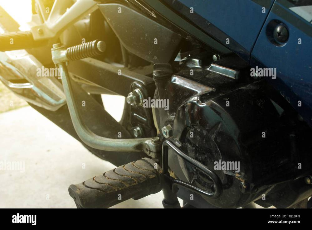 medium resolution of motorcycle engine not cleaned 4 stroke motorcycle engine system stock image