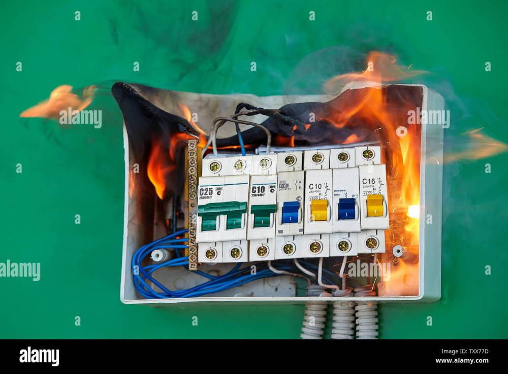 medium resolution of electrical faults of circuit breakers become the cause of fire loose wires caused fire inside