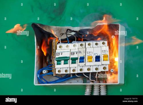 small resolution of electrical faults of circuit breakers become the cause of fire loose wires caused fire inside