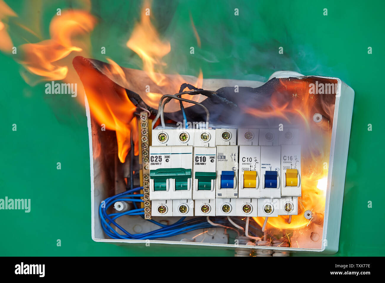 hight resolution of faulty wiring became the cause of distribution board fire bad electrical wiring systems caused fire