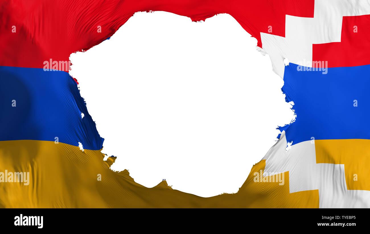 broken nagorno karabakh flag