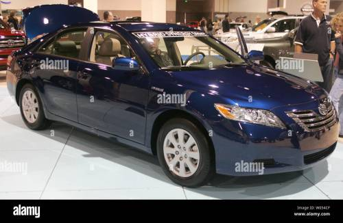 small resolution of a toyota camry hybrid is on display at the 2009 san diego international auto show at