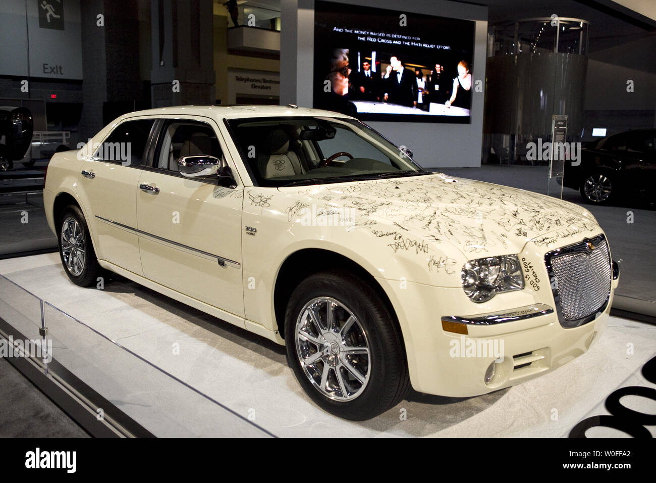hight resolution of the haiti special edition chrysler 300c is showcased at the washington auto show in washington on
