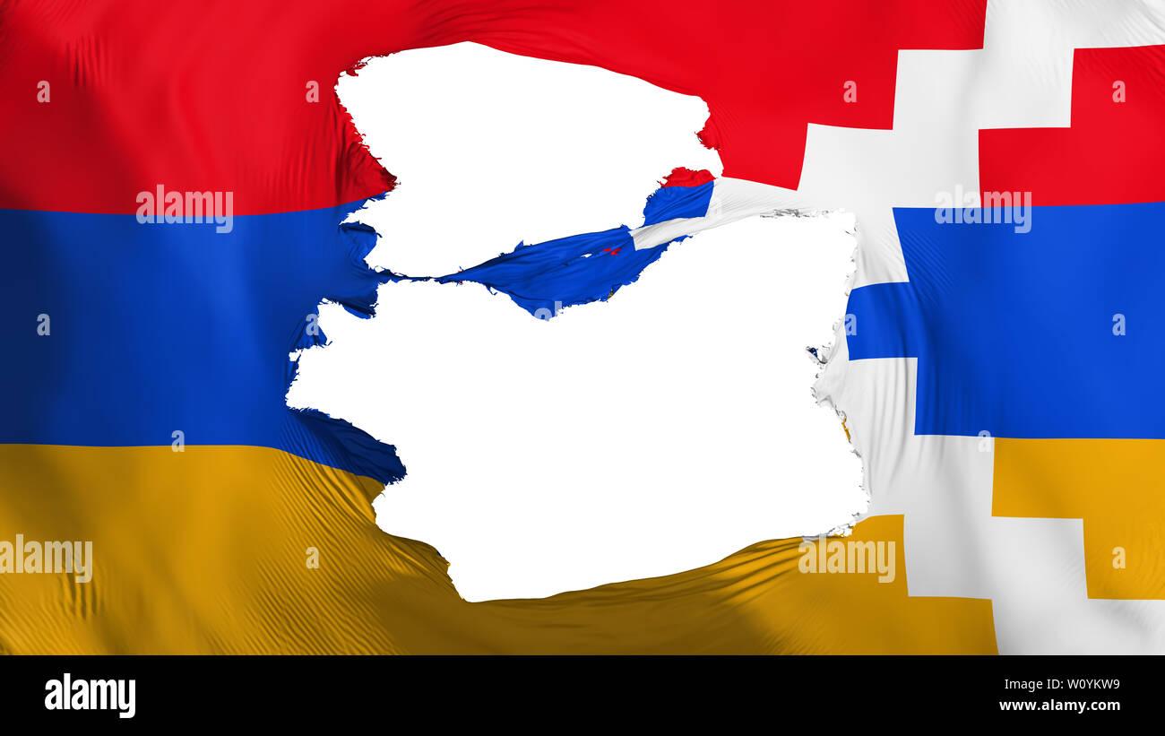 tattered nagorno karabakh flag
