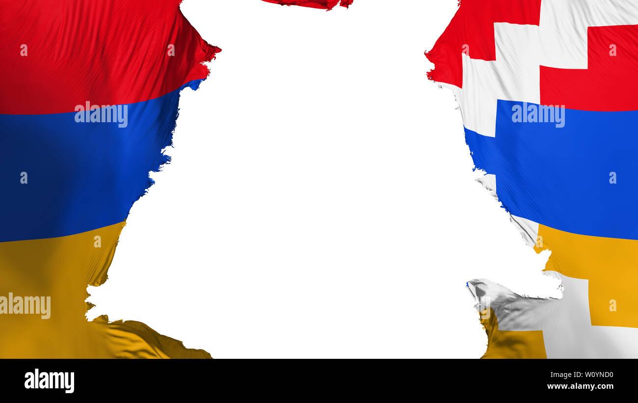 nagorno karabakh flag ripped