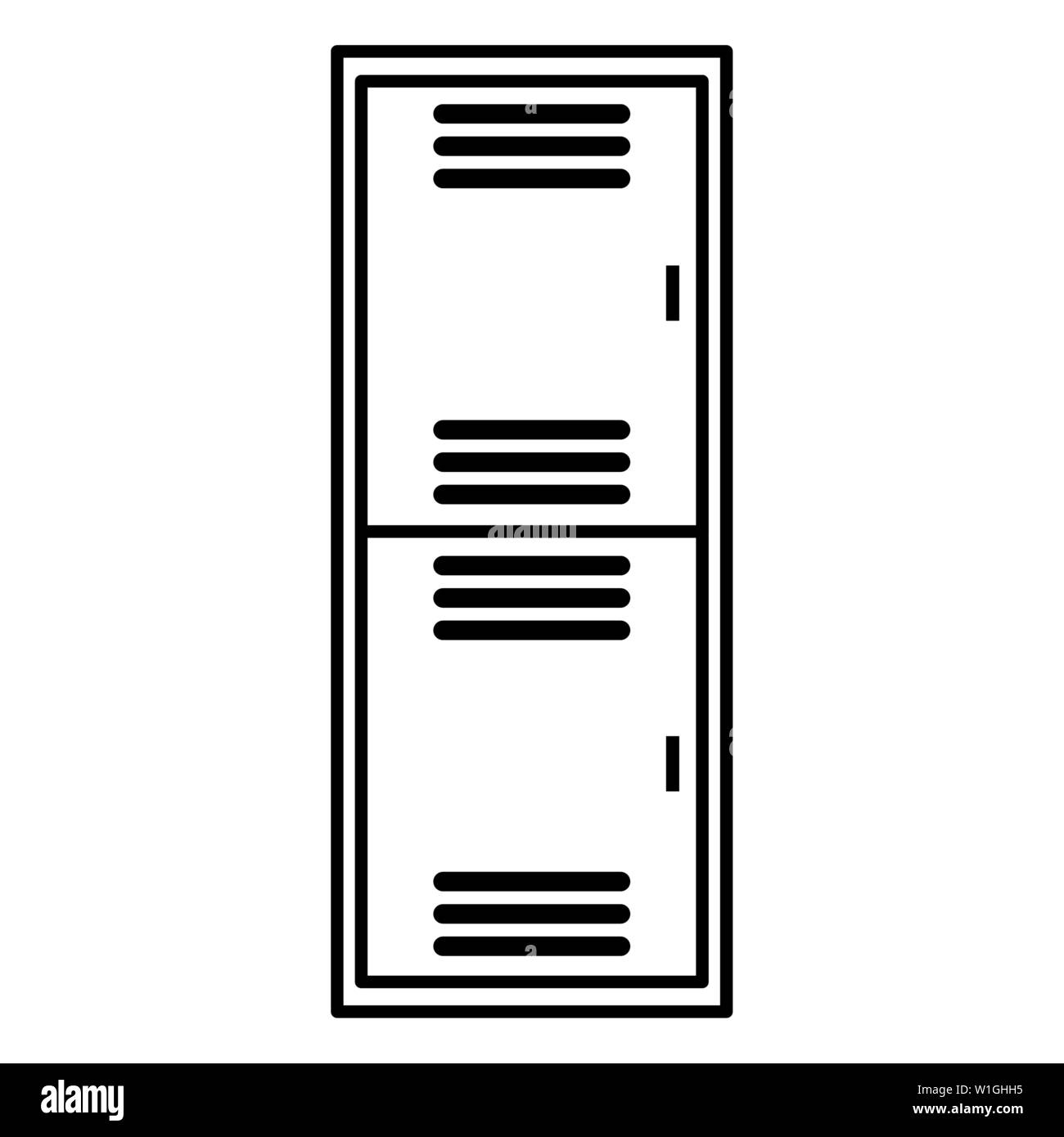 hight resolution of school locker metal isolated icon vector illustration design stock image
