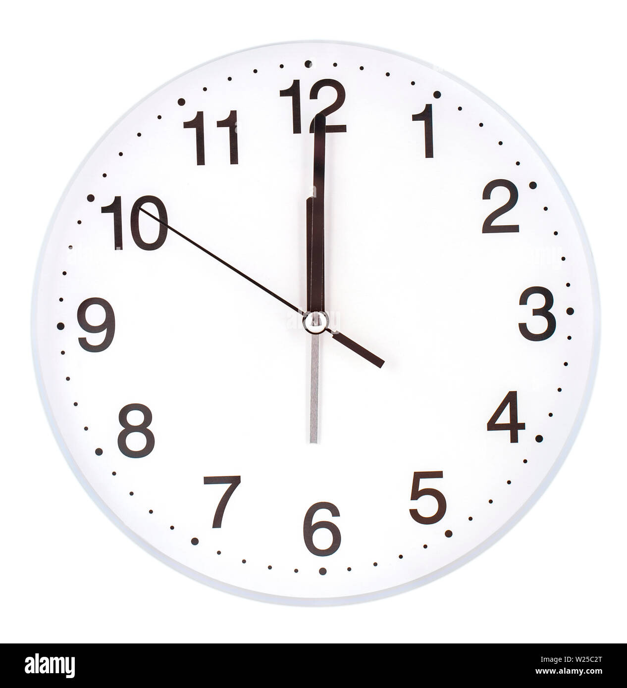 Blank Clock Face With Hour Minute And Second Hands Isolated On White Background Stock Photo Alamy