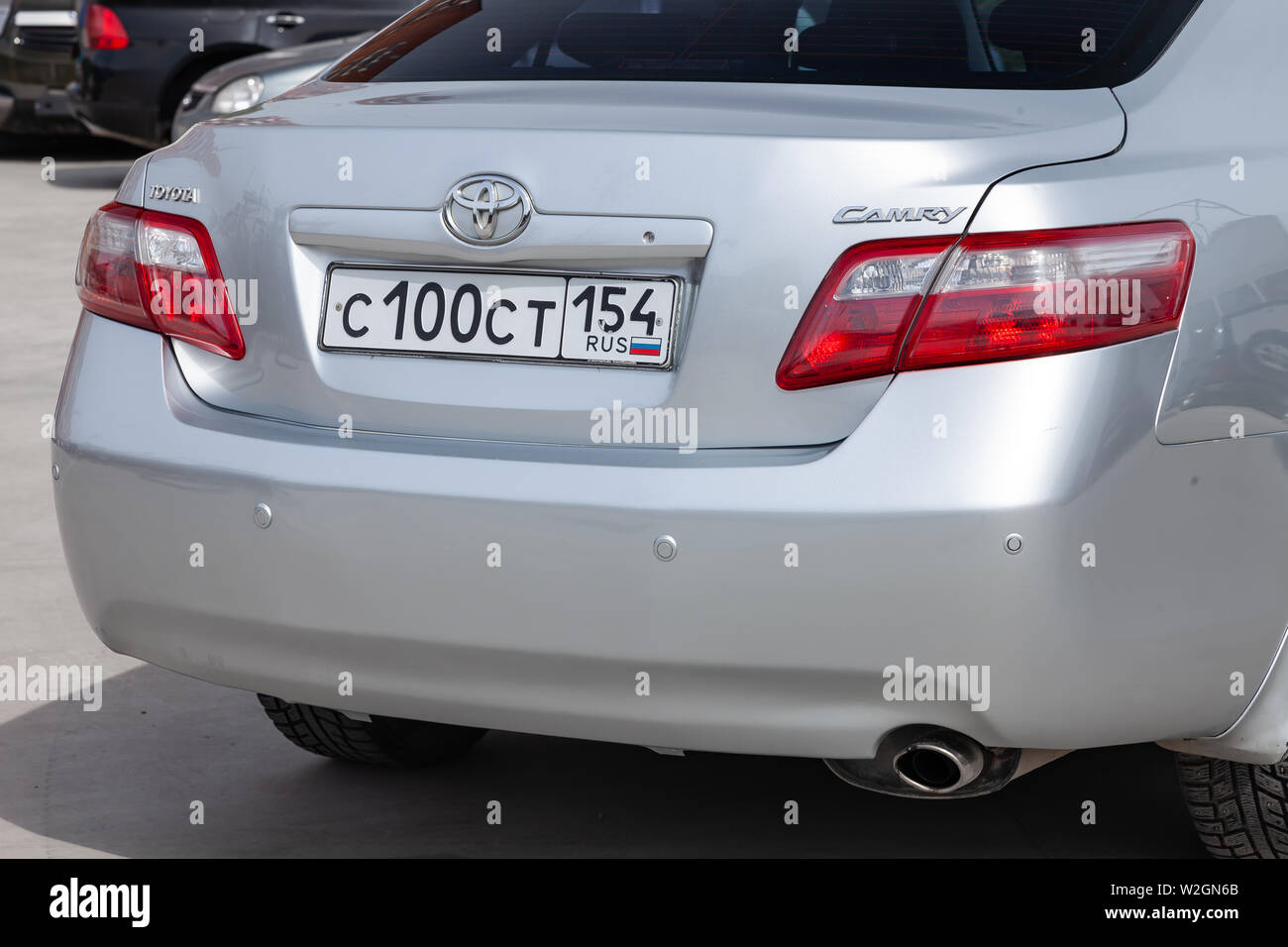 https www alamy com novosibirsk russia 07092019 rear view of toyota camry 2006 in silver color after cleaning before sale in a sunny day on parking image259752707 html