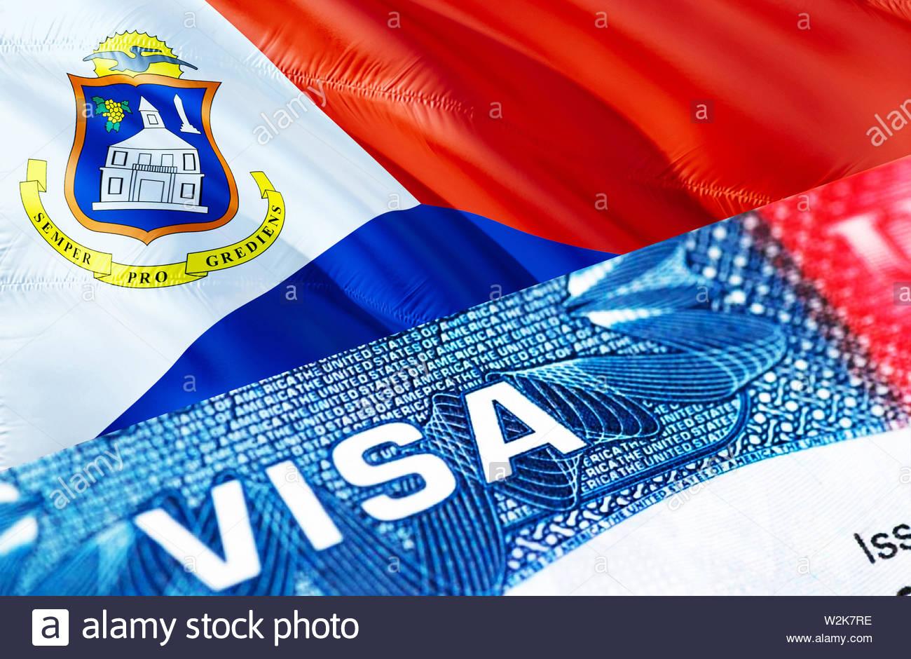 sint maarten flag stock