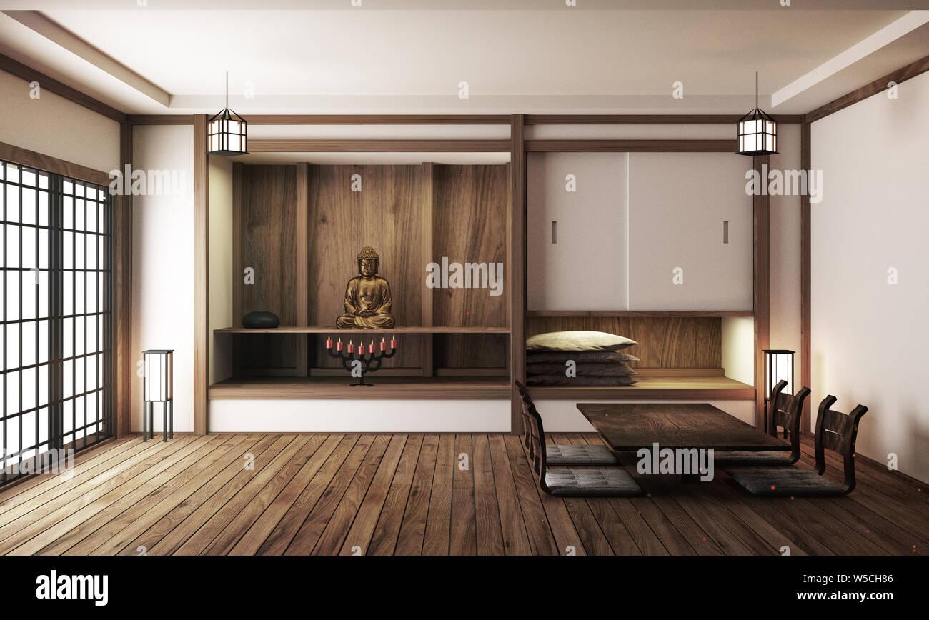 Japan Interior Design Modern Living Room 3d Illustration 3d Rendering Stock Photo Alamy