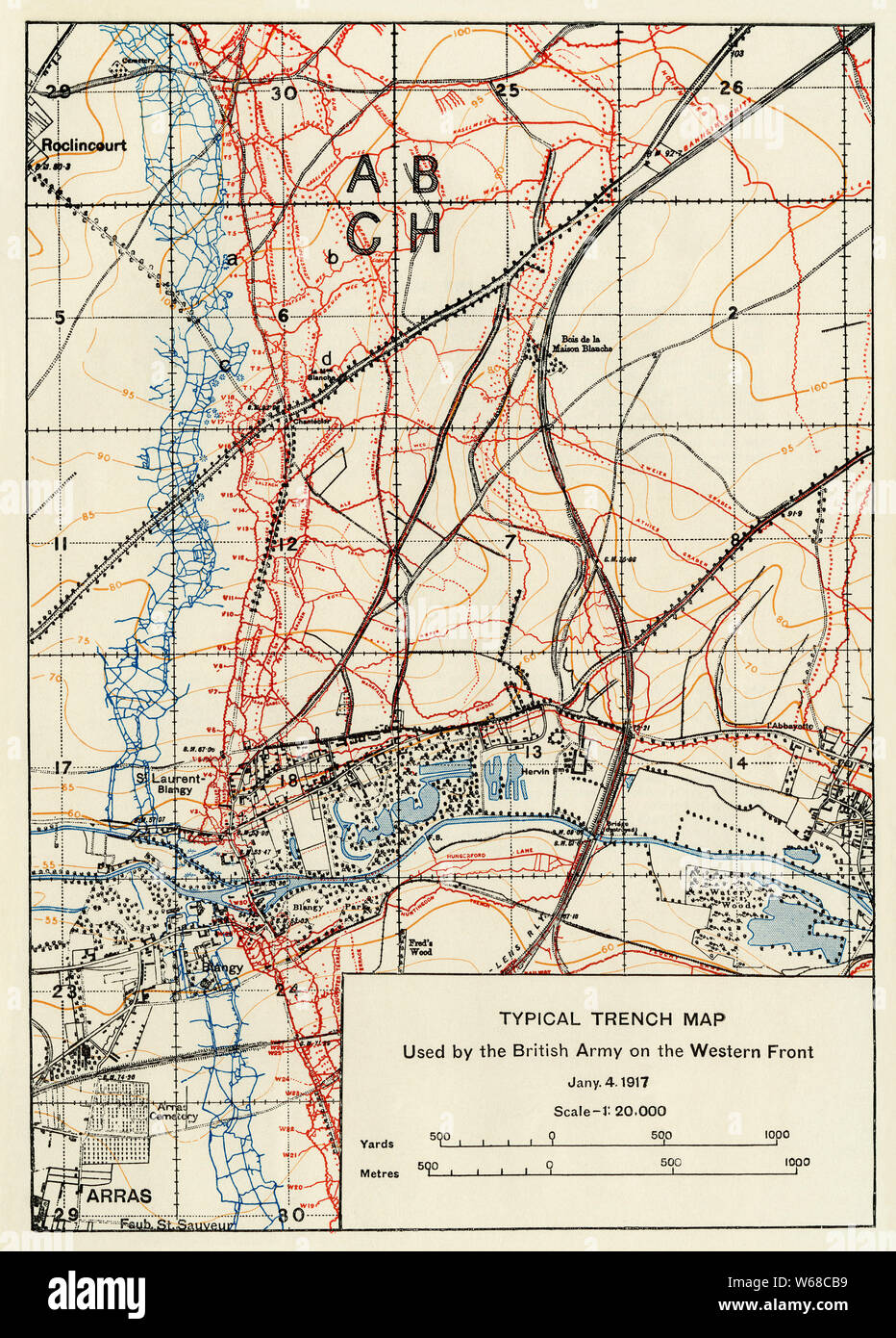 Trench Map : trench, Trench, Resolution, Stock, Photography, Images, Alamy