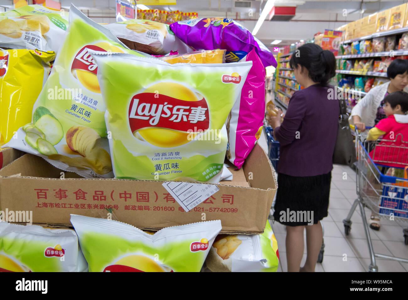 lays potato chips stock