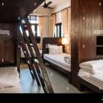 Feb 12 Chiang Mai Thailand Hostel Dormitory Bunk Beds Arranged In Room Backpacker Hostel Furnished With Wooden Dormitory Style Bunk Beds And Whit Stock Photo Alamy