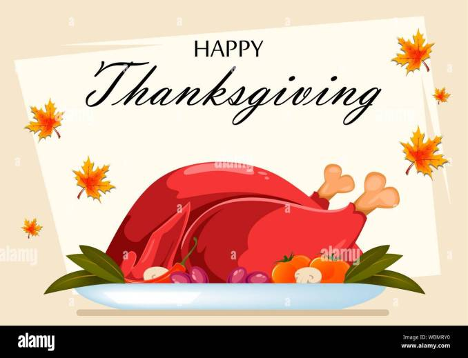 Thanksgiving Day Greeting Card with Roasted Turkey. Tasty Homemade Meal.  Vector illustration Stock Vector Image & Art - Alamy