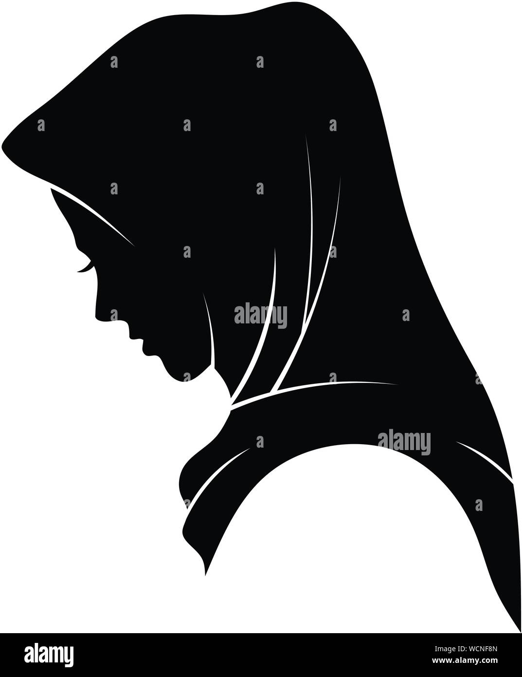 Hijab Silhouette Png : hijab, silhouette, Hijab, Vector, Resolution, Stock, Photography, Images, Alamy
