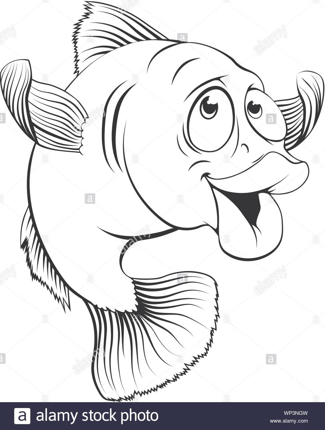 Cartoon Cod Fish : cartoon, Cartoon, Stock, Vector, Image, Alamy