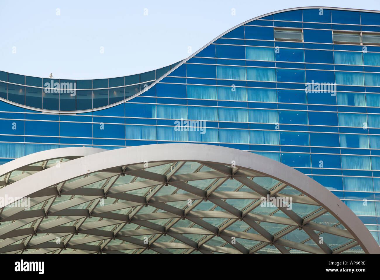 Detail Of The Westin Hotel And Transit Center At Denver