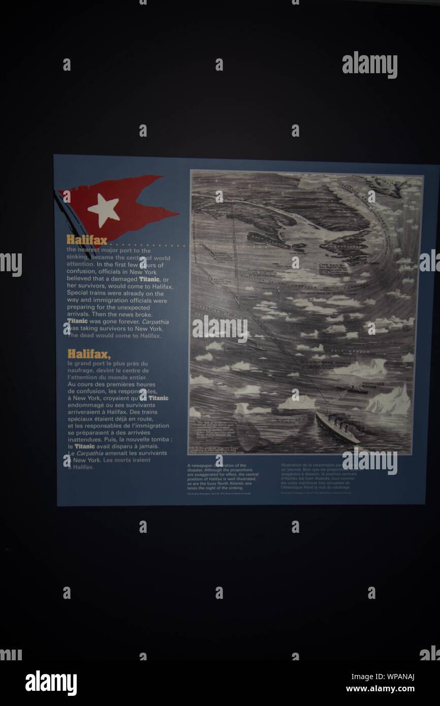 Titanic Map : titanic, Sinking, Titanic, Stock, Photo, Alamy