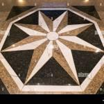 Big White Star At Marble Floor Decor Stock Photo Alamy