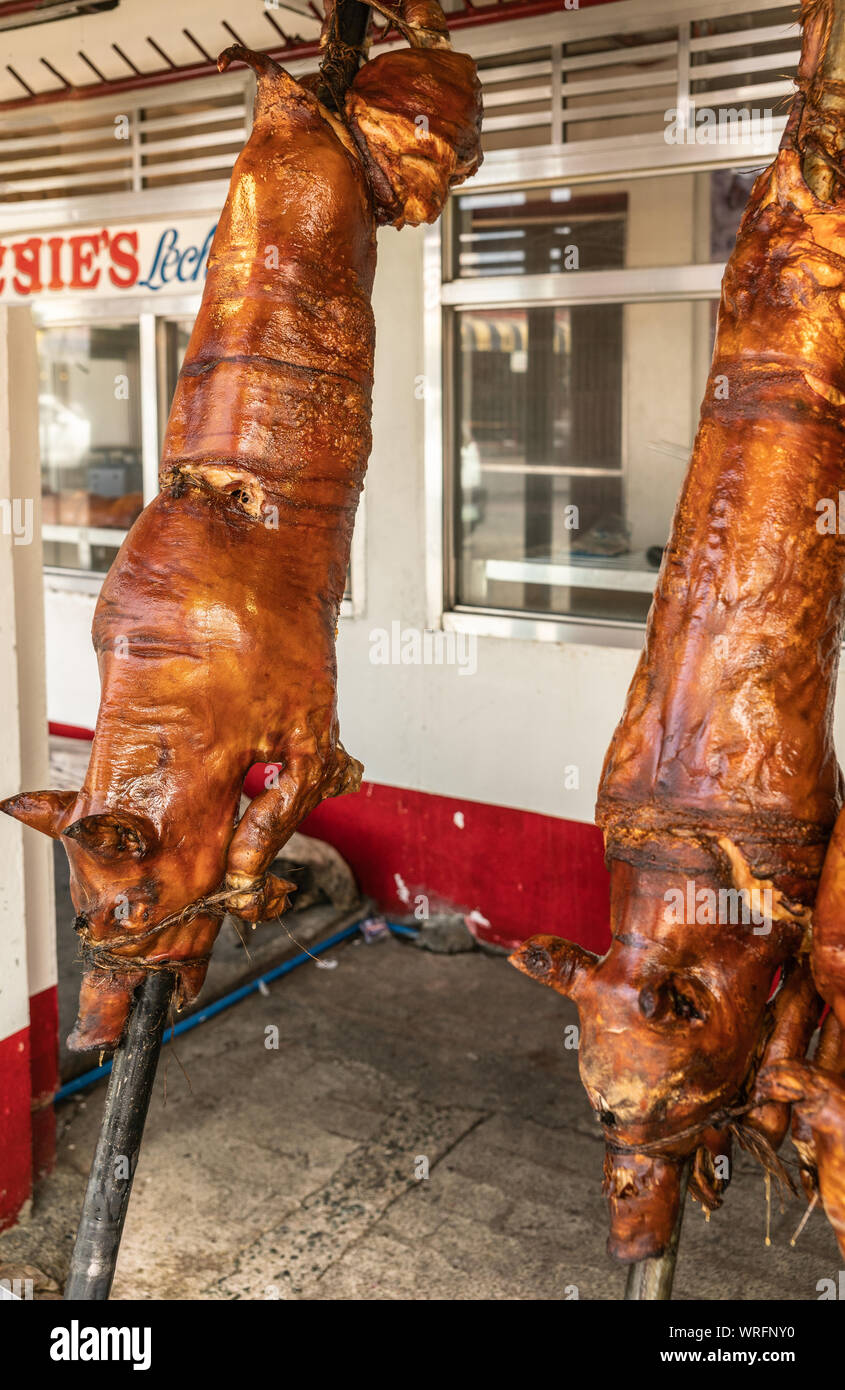 Images Lechon Baboy : images, lechon, baboy, Manila,, Philippines, March, 2019:, Calavite, Street, Salvacion, Town., Whole, Roasted, Spits,, Called, Lechon, Baboy,, Displayed, Stock, Photo, Alamy