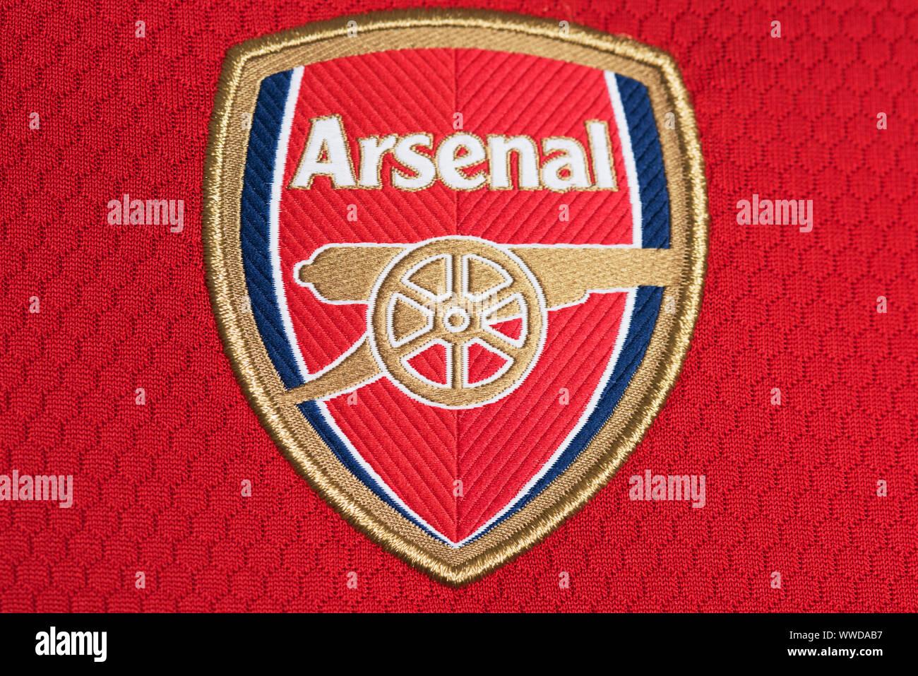 https www alamy com close up of arsenal x adidas 1920 home image273815451 html