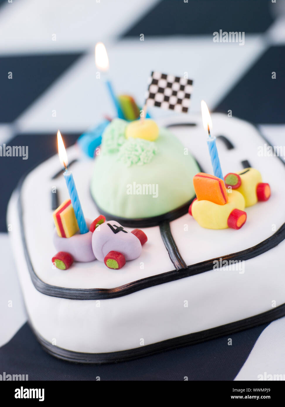 For the roof of the car, cut the front windshield part on a slight angle. Car Cake High Resolution Stock Photography And Images Alamy