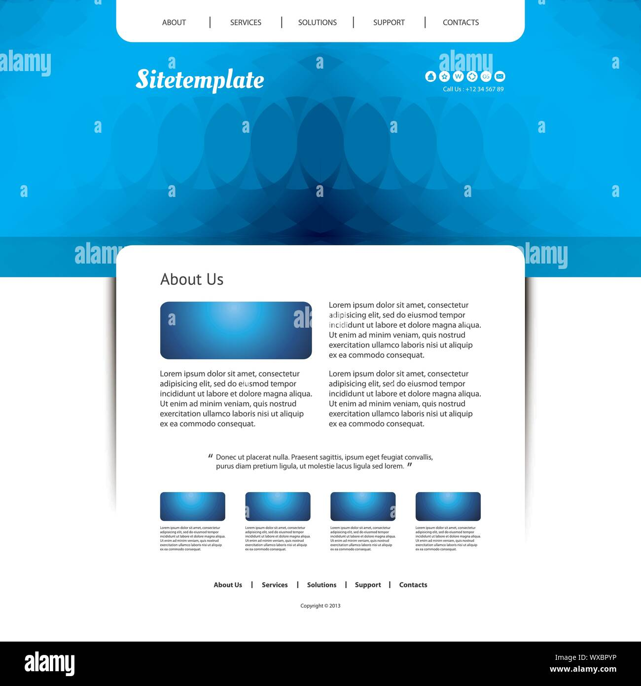 Though it is a tiny web template, it is crafted with 18 html pages, 11 section pages, 6 blog pages and many more. Website Template With Abstract Header Design Stock Vector Image Art Alamy