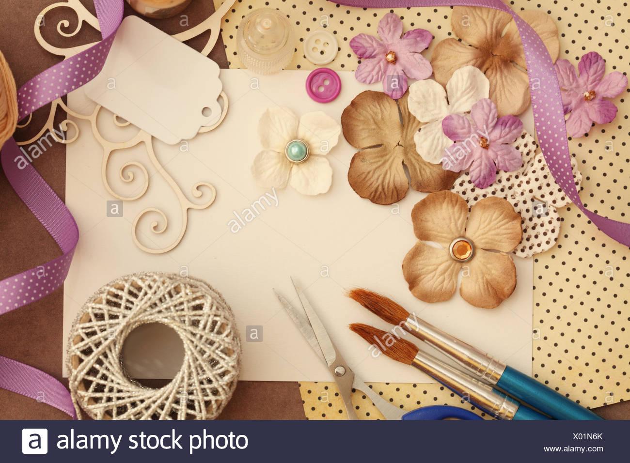 Handicrafts Craft Utensils Craft Material Stock Photo Alamy