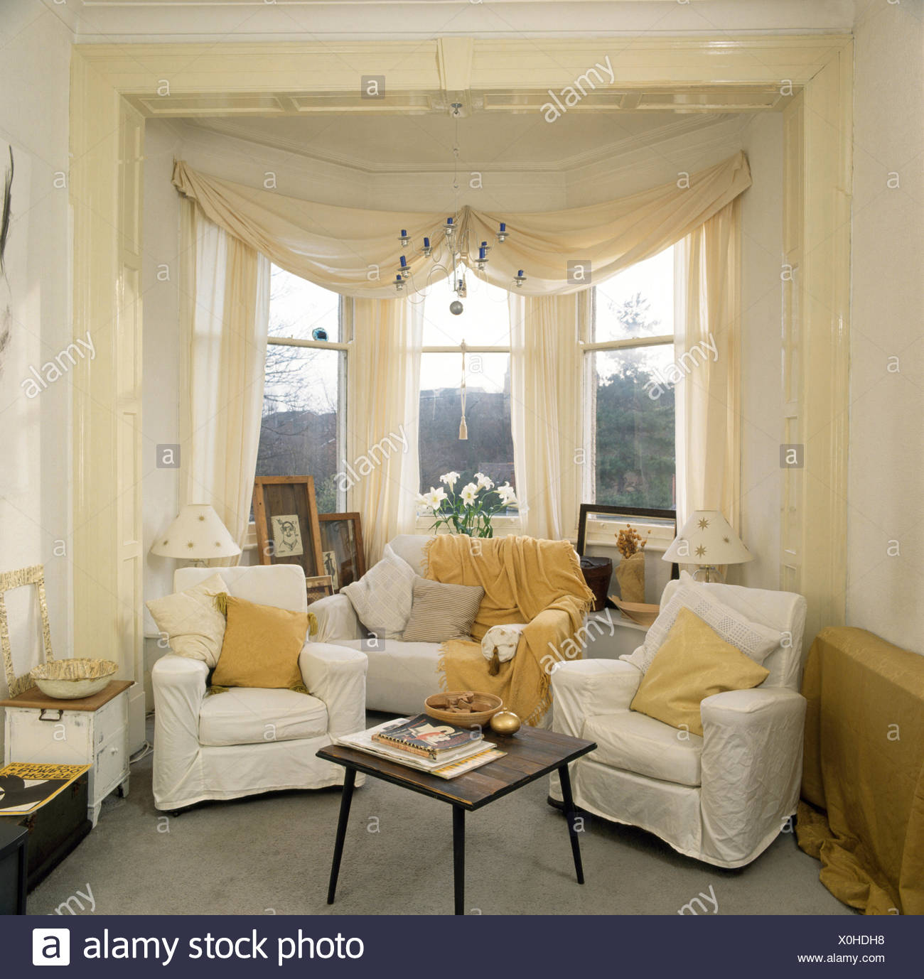 semi circle sofa for bay window lafer couro curtains stock photos and