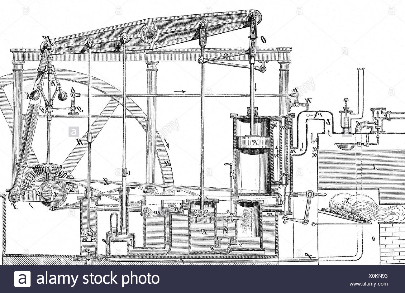 hight resolution of watt james 19 1 1736 25 8 1819 scottish engineer inventor schematic illustration of his steam engine additional rights clearances na
